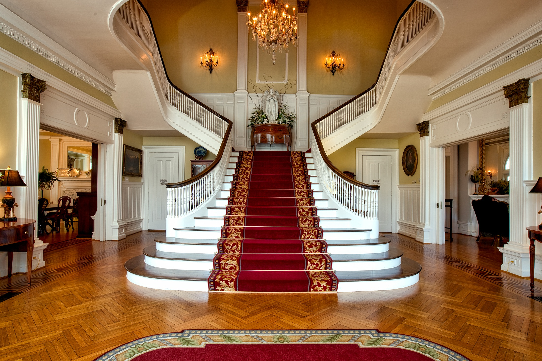 Wooden Staircase inside governors house