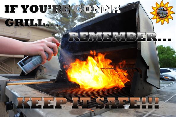 Grill on Fire House Fire Safety